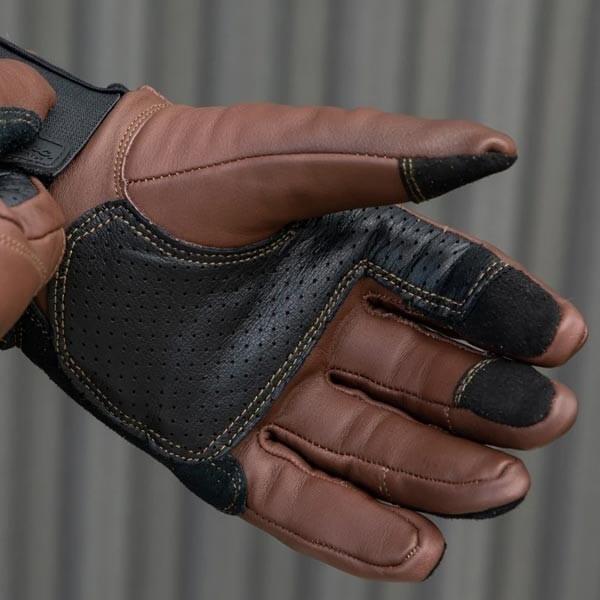 Guantes moto Biltwell Belden marron negro
