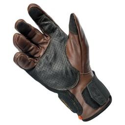 Guanti moto Biltwell Borrego marrone nero