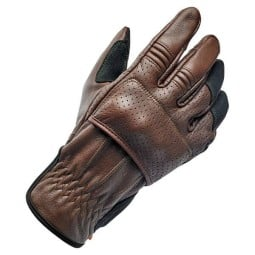 Motorcycle gloves Biltwell Borrego brown black ,Motorcycle Leather Gloves