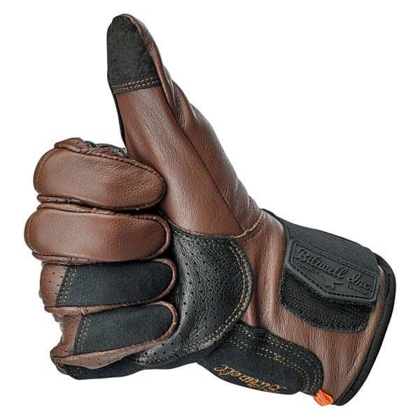 Gants moto Biltwell Borrego marron noir