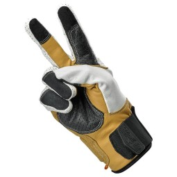 Motorcycle gloves Biltwell Borrego Cement ,Motorcycle Leather Gloves
