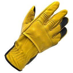 Motorcycle gloves Biltwell Borrego gold black ,Motorcycle Leather Gloves