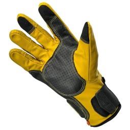 Guanti moto Biltwell Borrego giallo nero, Guanti Moto Pelle