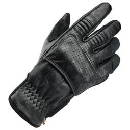 Motorcycle gloves Biltwell Borrego black ,Motorcycle Leather Gloves