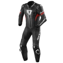 Tuta moto Rev it Hyperspeed nero rosso, Tute Moto Pelle