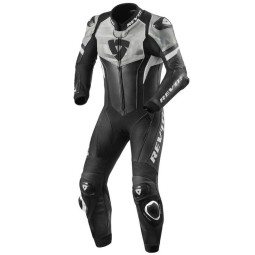 Motorcycle suit one piece Rev it Hyperspeed black white, Motorcycle Suit
