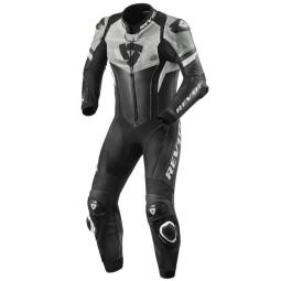 Tuta moto Rev it Hyperspeed nero bianco, Tute Moto Pelle