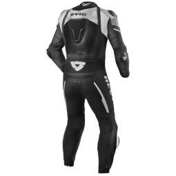 Motorrad Lederkombi Rev it Hyperspeed schwarz weiß