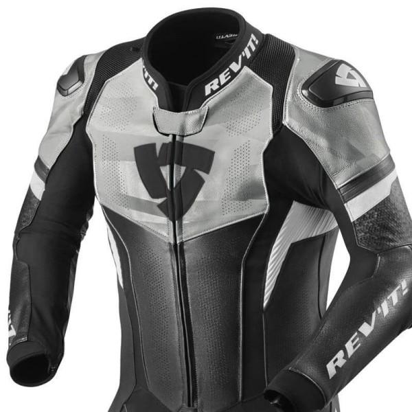 Combinaison moto Rev it Hyperspeed noir blanc
