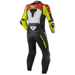 Motorcycle suit one piece Rev it Hyperspeed red yellow, Motorcycle Suit