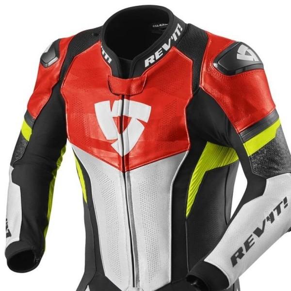 Combinaison moto Rev it Hyperspeed rouge jaune