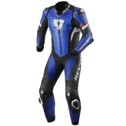 Tuta moto Rev it Hyperspeed blu nero, Tute Moto Pelle