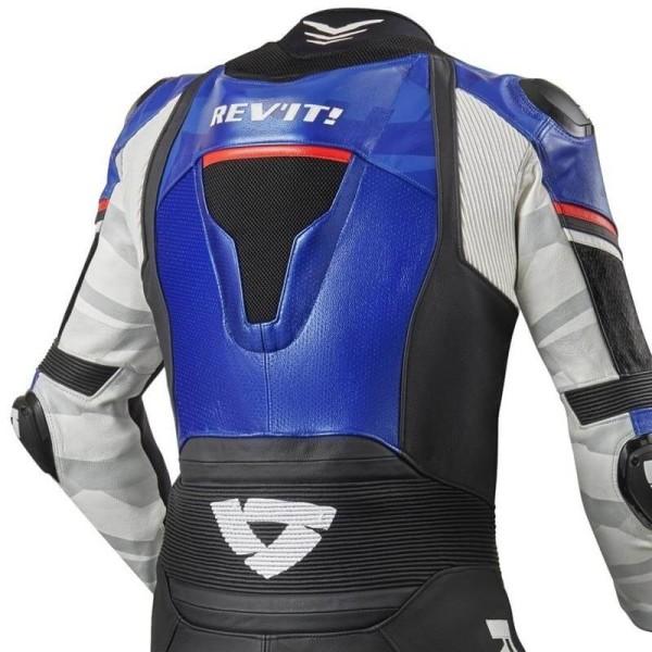 Combinaison moto Rev it Hyperspeed bleu noir