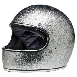 Casco de moto vintage Biltwell Gringo Brite Silver
