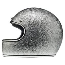 Motorrad helm Biltwell Gringo Brite Silver ,Vintage Helme