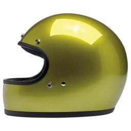 Casco de moto vintage Biltwell Gringo Metallic Sea Weed