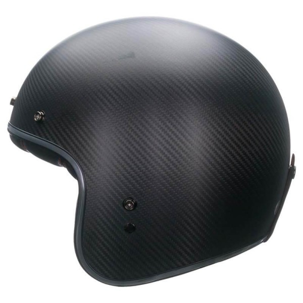Casco Moto Vintage BELL HELMETS Custom 500 Carbon Matt Black