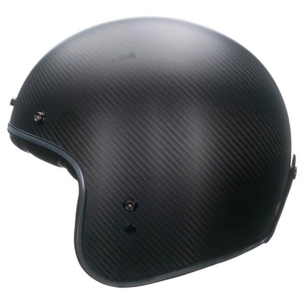 Casque Moto Vintage BELL HELMETS Custom 500 Carbon Matt Black