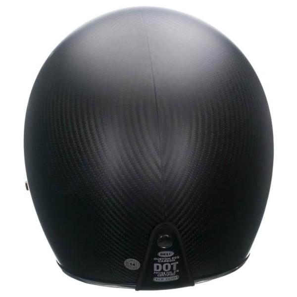 Casque Moto Vintage BELL HELMETS Custom 500 Carbon Matt Black