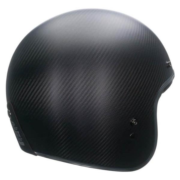 Motorcycle Helmet Vintage BELL HELMETS Custom 500 Carbon Matt Black