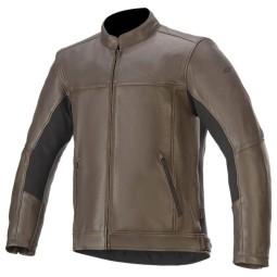 Chaqueta moto cuero Alpinestars Topanga marron