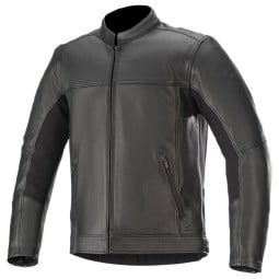Chaqueta moto cuero Alpinestars Topanga negro
