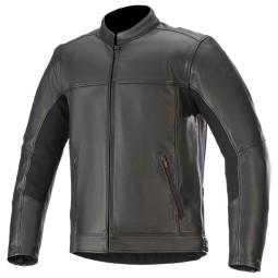 Motorradjacke leder Alpinestars Topanga schwarz