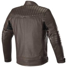 Motorcycle leather jacket Alpinestars Crazy Eight brown, Motorcycle leather jackets
