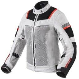Motorradjacke Rev it Tornado 3 frau silber schwarz ,Motorrad Textiljacken