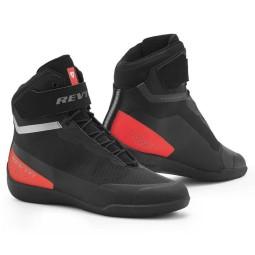 Chaussures moto Revit Mission noir rouge, Bottes Moto Racing