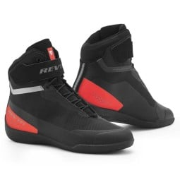 Zapatos moto Revit Mission negro rojo