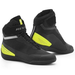 Zapatos moto Revit Mission negro amarillo fluo, Botas Racing Motos
