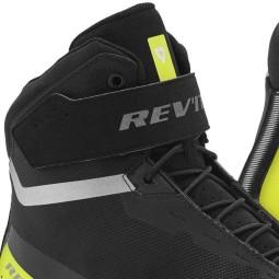 Chaussures moto Revit Mission noir jaune fluo, Bottes Moto Racing