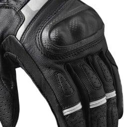 Revit motorradhandschuhe Chevron 3 schwarz weiß ,Motorrad Lederhandschuhe