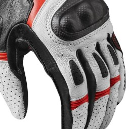 Revit motorcycle gloves Chevron 3 white red ,Motorcycle Leather Gloves