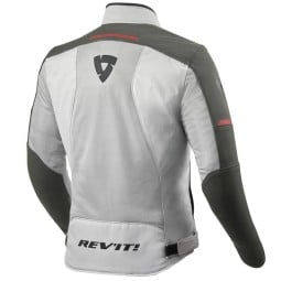 Motorcycle jacket Revit Airwave 3 silver red, Motorcycle Textile Jackets