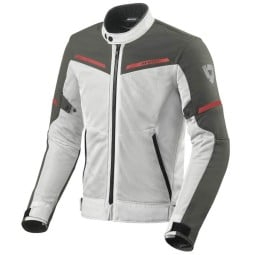 Motorcycle jacket Revit Airwave 3 silver red ,Motorcycle Textile Jackets