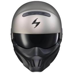 Motorcycle helmet Scorpion Covert X matte titanium, Jet Helmets