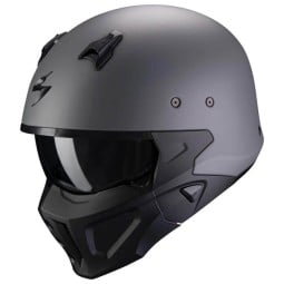 Motorrad helm Scorpion Covert X matte grau