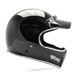 Motorcycle helmet Roeg Moto Peruna black gloss, Vintage Helmets