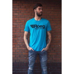 T-shirt Roeg Moto OG TEE azzurra, T-Shirts
