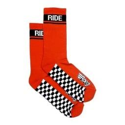 Calcetines de moto Roeg Moto Early Finish rojo