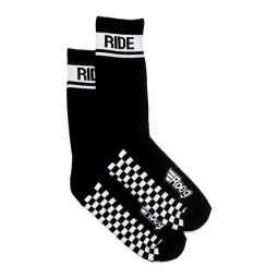 Calcetines de moto Roeg Moto Early Finish negro