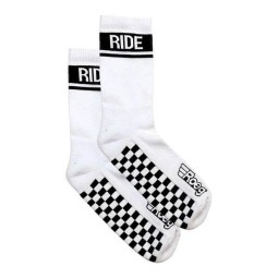 Motorcycle socks Roeg Moto Early Finish white