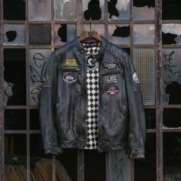Giacca pelle moto Holy Freedom Zero nero, Giubbotti e Giacche Pelle Moto