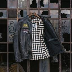 Blouson cuir moto Holy Freedom Zero noir, Blousons moto Cuir
