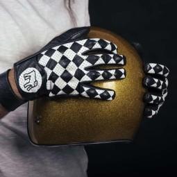 Holy Freedom Bullit motorrad handschuhe black white