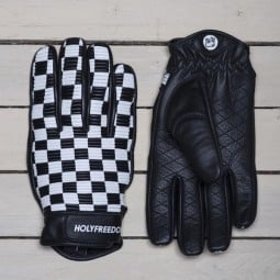 Holy Freedom Sir Cock motorcycle gloves black white ,Motorcycle Leather Gloves