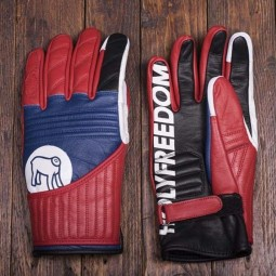 Holy Freedom Flat Track red motorcycle gloves ,Motorcycle Leather Gloves