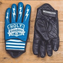 Holy Freedom Hotwheels blue motorcycle gloves ,Motorcycle Leather Gloves
